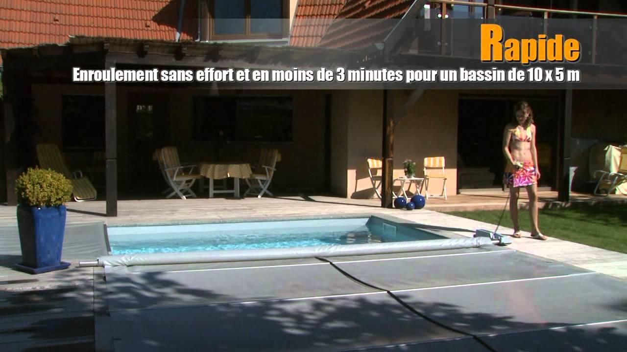 Walu cool motorisation pour couvertures barres youtube for Motorisation enrouleur bache piscine