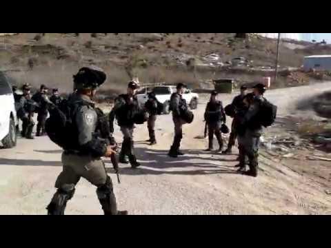 צפו: כוחות המנהל האזרחי יחד עם משטרה פושטים על הישוב יצהר