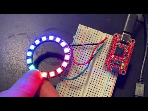 Testing FT232H with NeoPixels on Windows PC