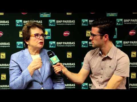 BNP Paribas Open: Talking Tennis with Billie Jean King