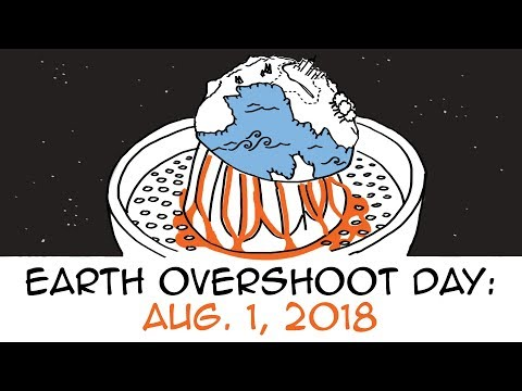 Earth Overshoot Day 2018 falls on August 1st