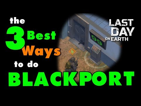 LDOE Police Station! The 3 Best Ways to do Blackport PD in Last Day on Earth Survival Update 1.9.6