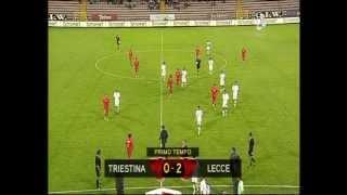 Triestina-LECCE 1 a 4 del 22 settembre 2009 (telecronaca primo tempo)