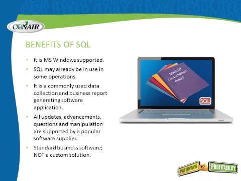 Conair SQL Reporting Software for blenders