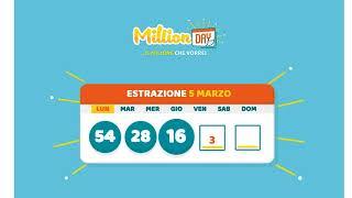 Estrazione MillionDAY 05 Marzo 2018