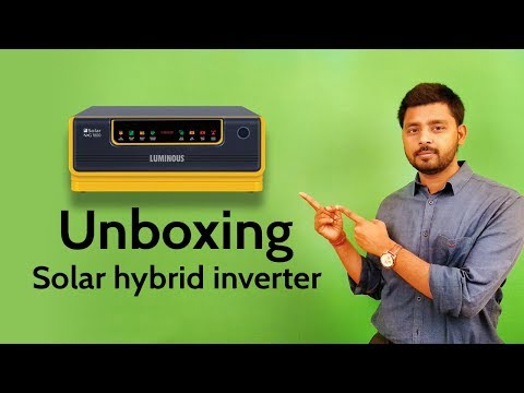 How to use Solar Inverter in day and night with solar PV panels.