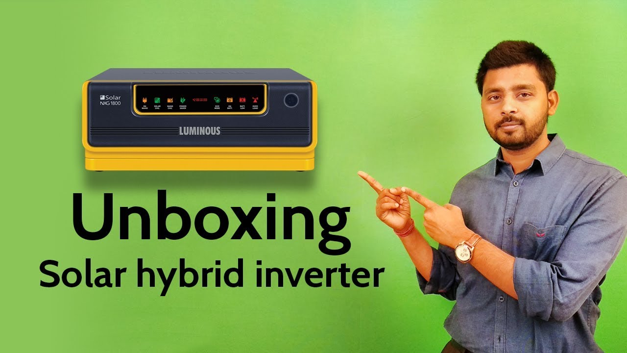 Solar Inverter : Luminous solar inverter nxg series unboxing
