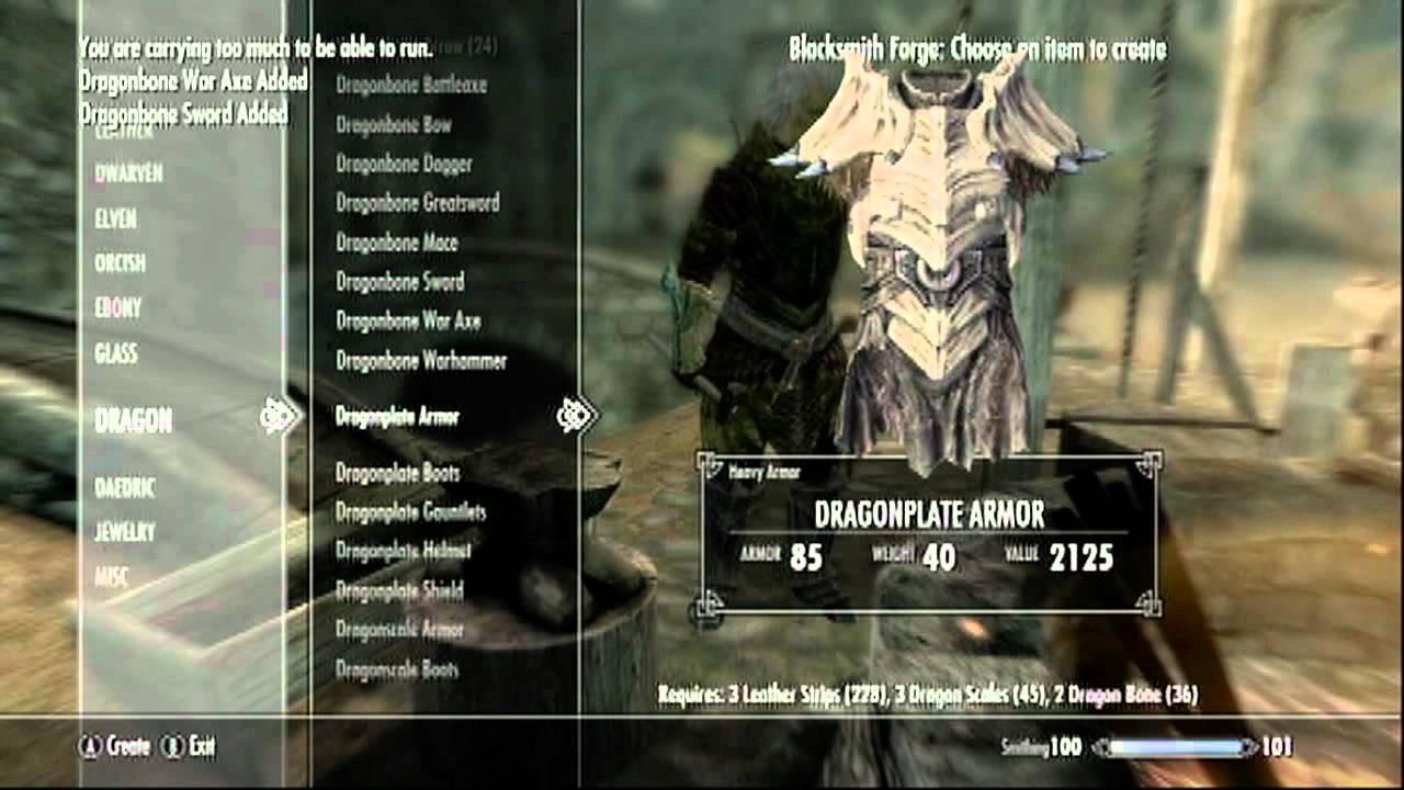 Skyrim Dlc Dragonbone Weapons New Youtube