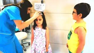 ipek aşı olmaya gitti hastanede beklerken resim yaptı