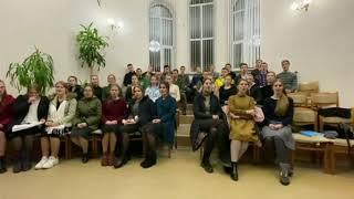 Молодёжь г. Могилёв (Беларусь) в поддержку Архангельской церкви