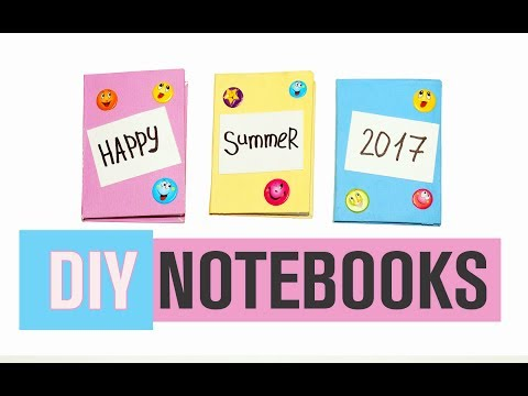 DIY MINI NOTEBOOKS. How to make a paper little book | DIY Paper Book | Paper Notebook! / Julia DIY