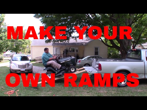 Fat Guy Makes Ramps For His Riding Mower