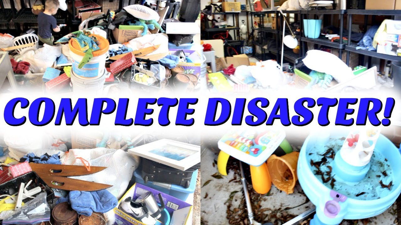COMPLETE DISASTER CLEANING MOTIVATION! EXTREME CLEAN WITH ME 2020! GARAGE & OUTDOOR DECLUTTER! SAHM