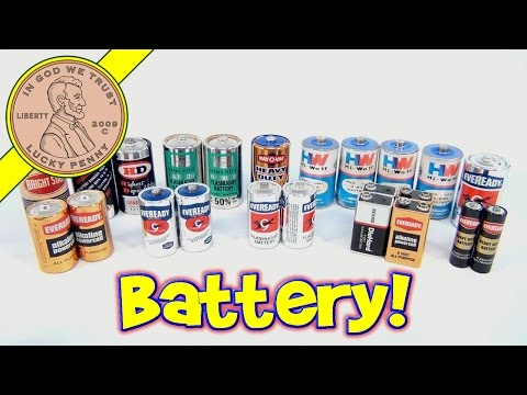 Vintage Battery Collection - Old Batteries from Flashlights, Games, Electronics 9V, AA, AAA, C, D