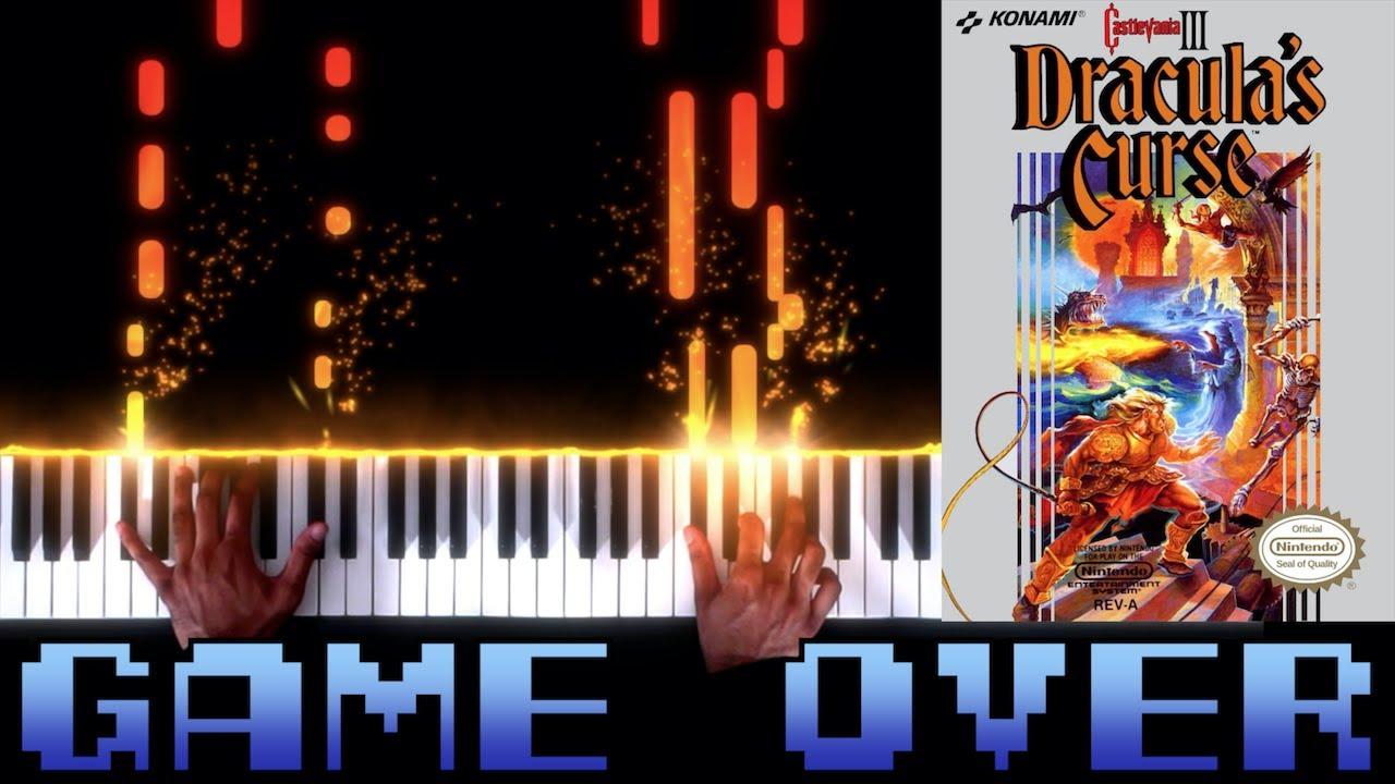 Castlevania III: Dracula's Curse (NES) - Game Over - Piano|Synthesia