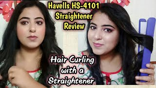 Havells Hair Straightener HS-4101 Review & Demo || Curly hair with Straightener