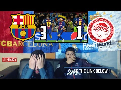 MADRID FAN REACTS TO BARCA EASY 3-1 WIN ON OLYMPIAKOS - LIVE REACTION