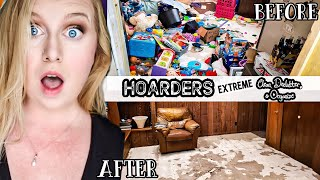 HOARDER!!! COMPLETE DISASTER CLEAN WITH ME | MESSY HOUSE CLEANING MOTIVATION | Living With Cambriea