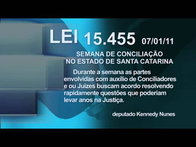 LEI 15.455 - Semana Estadual da Conciliação