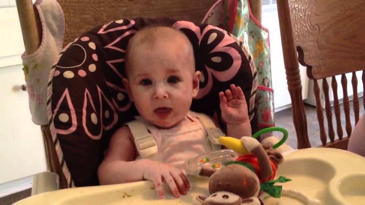 Cute Baby Girl Talking And Saying I Love You Youtube