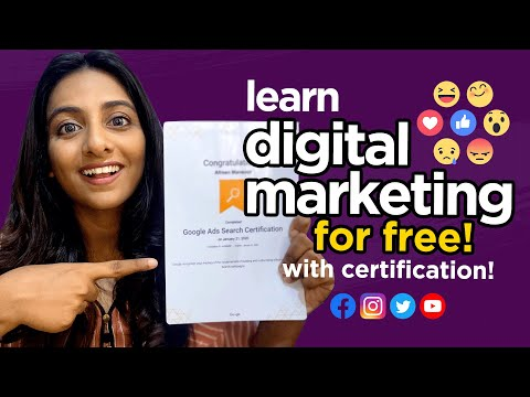 LEARN DIGITAL MARKETING FOR FREE   BEST ONLINE RESOURCES WITH CERTIFICATION