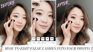 HOW TO APPLY FALSE LASHES ON YOUR PHOTO | getawei