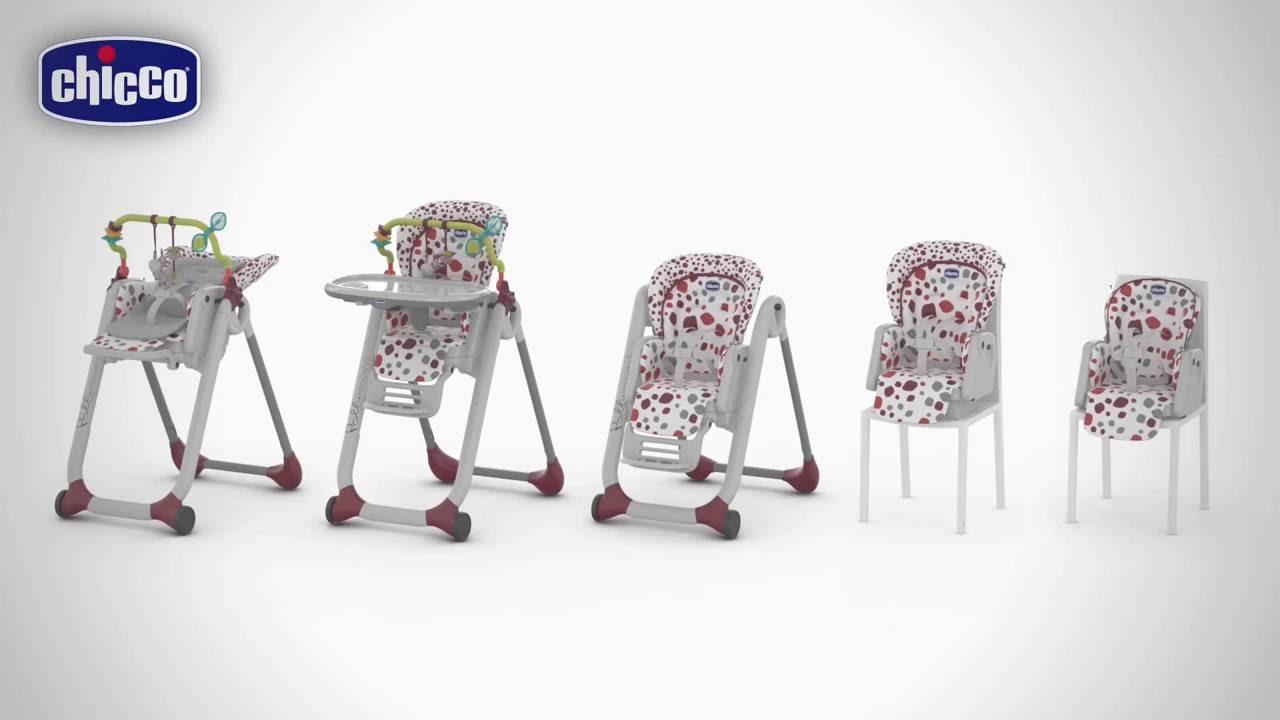 4715e9b0d04 Chicco Κάθισμα Φαγητού Polly Progres5 - YouTube