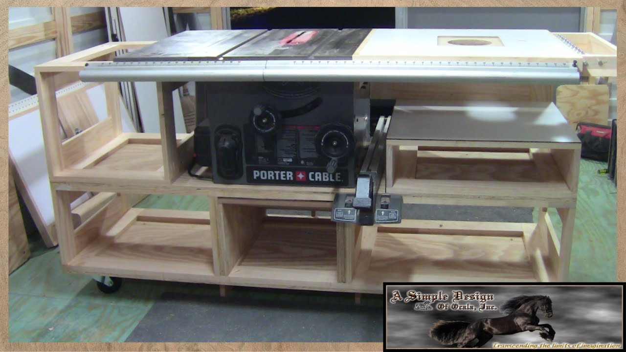 Building a Tablesaw Base Part 1  YouTube