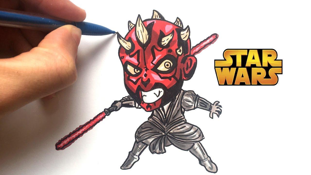 Draw Dark Maul Chibi Star Wars