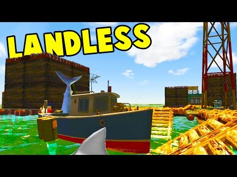 HUGE FLOATING RAFT CITY! We Save a Baby From A Shark! - Landless Early Access Gameplay