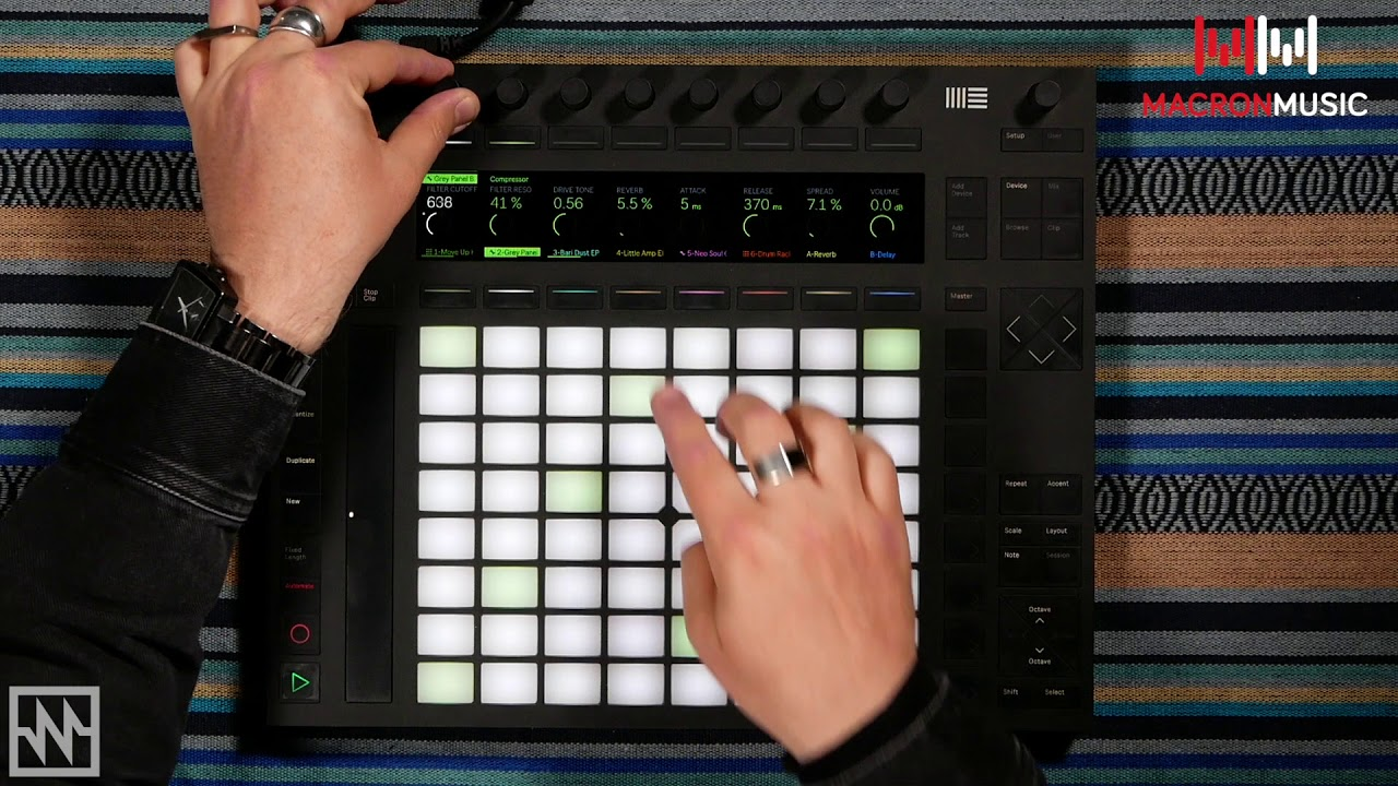 Ableton Push 2 Beat-building - Macron Music