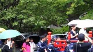3_動画_会津藩侯行列_国広富之さん白羽ゆりさん_20120923 今年も恒例の...