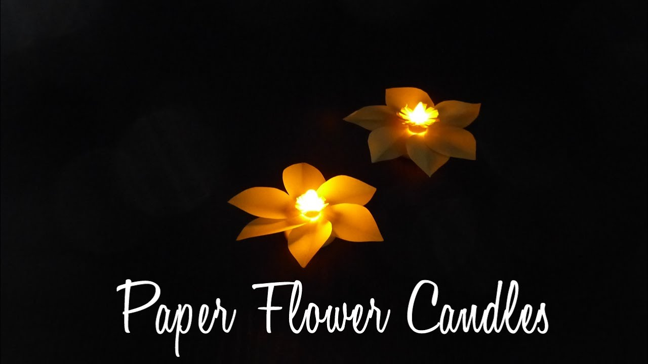 DIY Crafts: How To Make An Easy Paper Candle Decoration - YouTube for Paper Bag Lanterns Diy  58cpg