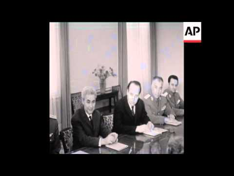UPITN 29 4 73 CEAUCESCU HOSTS RUSSIAN DELEGATION HEADED BY GRECHKO