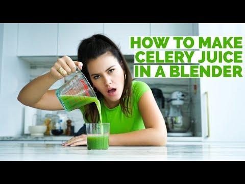 How To Make Celery Juice In a Blender | Medical Medium | Elena Besser