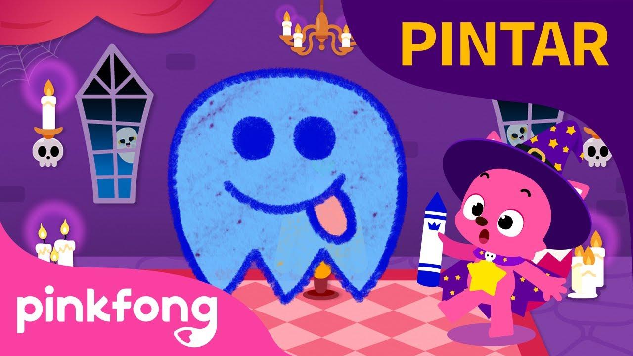 ¿Cómo se pinta un fantasmín? 👻| Halloween | Canciones para Pintar | Pinkfong Canciones Infantiles