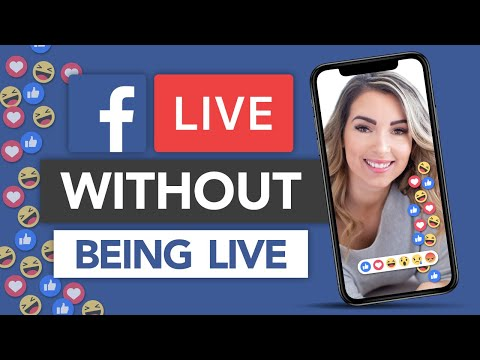 How To Go Live On Facebook WITHOUT Actually Being Live