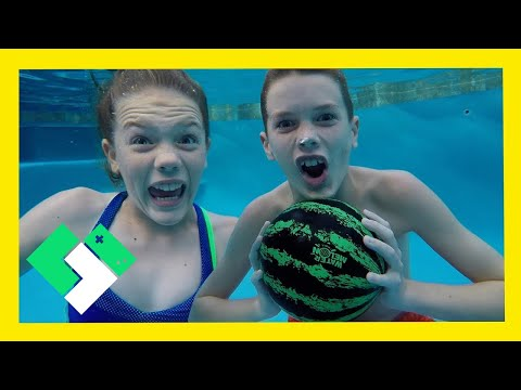 Underwater Basketball with the Watermelon Ball! (Day 1910)