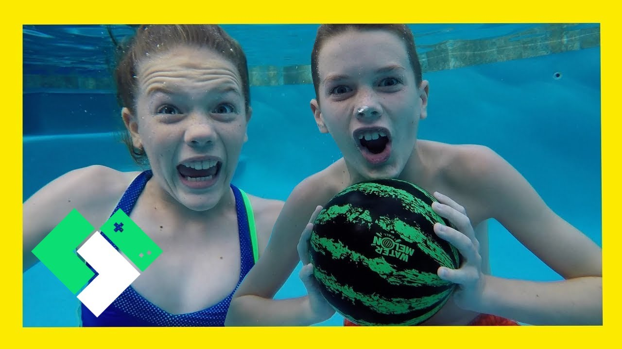 Underwater Basketball With The Watermelon Ball! (Day 1910