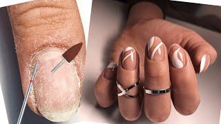 Самый модный дизайн ногтей 2021 Невероятный маникюр Комбинированный маникюр