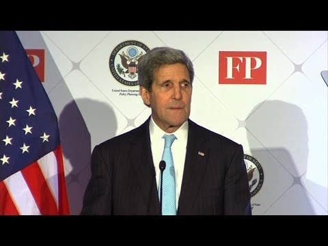 Kerry broadside against IS: 'We are not intimidated'