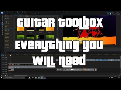 Everything you need to fix and maintain your guitars and equipment.  Guitar repair toolbox