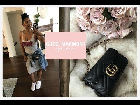 689446e8eee9f0 Gucci Marmont Super Mini: First Impressions & Mod Shots // What Fits  Inside? II Chelsey Washington