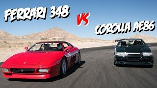 Driver Battles: Corolla AE86 vs. Ferrari 348 (GT-S Battle)