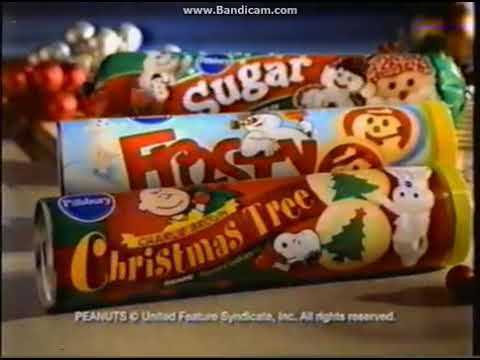 Pillsbury Christmas Cookies Sugar Charlie Brown Tree And Frosty The Snowman Tv Commercial 2002