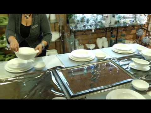 der gedeckte tisch 01 weihnacht in silber keramikscheune. Black Bedroom Furniture Sets. Home Design Ideas