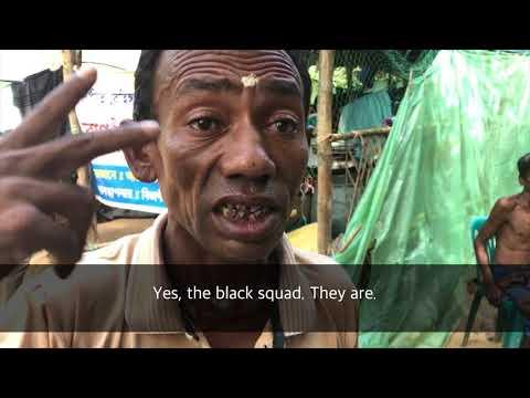 Hindu Refugee tells of death squad dressed in black killing Hindus & Muslims