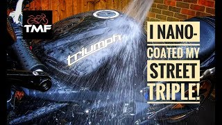 I nano coated my Street Triple! - Hydrosilex Review