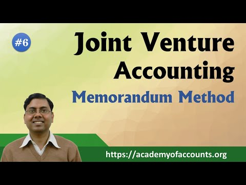 Joint Venture    Memorandum Method    B.Com