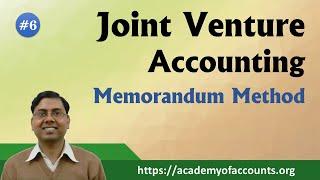 Joint Venture ~ Memorandum Method [For B.Com/M.Com]
